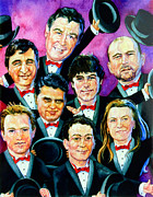 Caricatures Painting Prints - The Follies Print by Hanne Lore Koehler