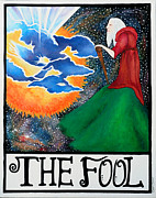 Universe Paintings - The Fool by Natalie Linder