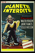 Forbidden Planet Prints - The Forbidden Planet Vintage Movie Poster Print by Bob Christopher