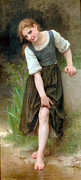 Old Masters Posters - The Ford Poster by William Bouguereau