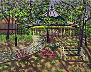 Carousel Painting Originals - The Forest Park Carousel by Madeline  Lovallo