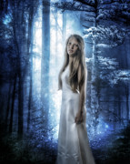 Blonde Framed Prints - The Forest Princess Framed Print by Erik Brede