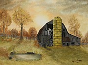 Old Barn Paintings - The Forgotten Barn by Marie Parsons