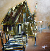 Water Paintings - The Forgotten Shack by David Kacey