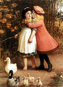 The Two Sisters Art - The Foster Sisters by Philip Richard Morris