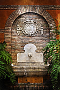 Malaga Prints - The Fountain Print by Mary Machare
