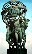 Monument Sculpture Posters - The Four Continents Poster by Kathleen English-Barrett