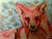 Esquisse Prints - The Fox  Print by Amarely Ely