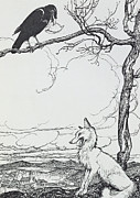 Arthur Rackham - The Fox and The Crow