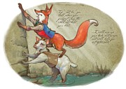 Fox Digital Art - The Fox and the Goat II by Ashraf Ghori