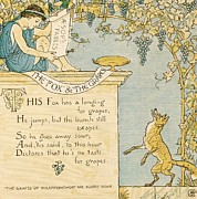 The Fox And The Grapes Print by Pg Reproductions
