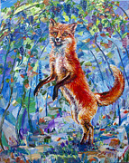 Impasto Oil Paintings - The Fox And The Grapes  by Yelena Rubin