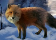 Fox Digital Art - The Fox by Barbara Hart