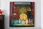 Leah Saulnier The Painting Maniac - The Freaky Chickens Competition