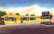 Ocala Painting Framed Prints - The Freez-ette Dinette Restaurant In Ocala Fl In 1950 Framed Print by Dwight Goss