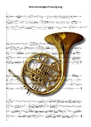French Digital Art Originals - The French Horn by Ron Davidson