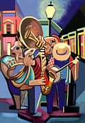 Jazz Mixed Media Framed Prints - The French Quarter Framed Print by Anthony Falbo