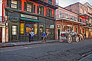 Streetscape Digital Art Acrylic Prints - The French Quarter oil Acrylic Print by Steve Harrington