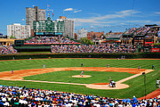 Cubs Baseball Park Prints - The Friendly Confines Print by James Kirkikis