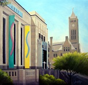 Nashville Architecture Paintings - The Frist Center by Janet King