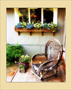 Front Porch Digital Art Posters - The Front Porch Poster by Helen Roach