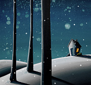 Winter Night Art - The Frost by Cindy Thornton