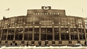Lambeau Field Posters - The Frozen Tundra Poster by Tommy Anderson