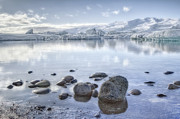 Calm Water Reflection Prints - The Frozen World Print by Evelina Kremsdorf
