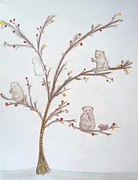 Teddy Bears Mixed Media - The Fruit Tree by Christine Corretti
