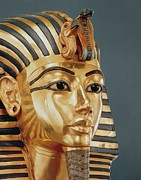 Golden Ceramics Prints - The funerary mask of Tutankhamun Print by Unknown