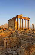 Palmyra Photos - The Funerary Temple and Arab Castle at Palmyra Syria by Robert Preston