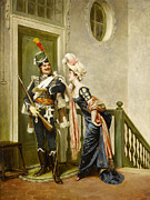 Frederick Digital Art Posters - The Gallant Officer Poster by Frederick Soulacroix