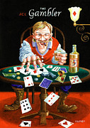 Johnny Trippick Framed Prints - The Gambler Framed Print by Johnny Trippick