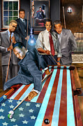 President Lincoln Paintings - The Game Changers and Table runners by Reggie Duffie