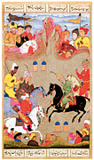 Game Painting Prints - The Game of Polo Print by Mughal School