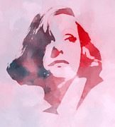 Actress Mixed Media Metal Prints - The Garbo Metal Print by Stefan Kuhn