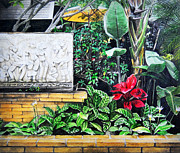Pathway Paintings - The Garden At thailand by Thanes