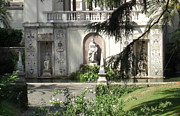 Borgia Prints - The Garden at the Popes Private Residence Print by Deborah Smolinske