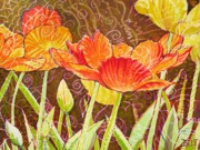 City Flowers Paintings - The Garden Dance by Christine Belt