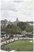 City Garden Prints - The Garden of the Princess the Louvre Print by Claude Monet