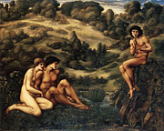 Player Digital Art - The Garden Pan by Edward Burne Jones