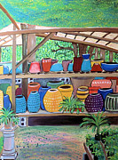 Pottery Paintings - The Garden Shed by Jo Claire Hall