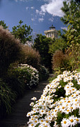 Beautiful Lighthouses Prints - The Gardens At Hereford Print by Skip Willits