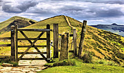 Derbyshire Cross Prints - The Gate On The Ridge Print by Darren Burroughs