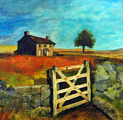 Norfolk; Painting Prints - The gate Print by Sheila West