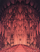 The Gates Of Barad Dur Print by Curtiss Shaffer