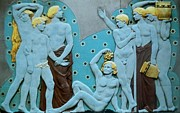 Grapes Art Deco Art - The GATHERING  Art Deco by Gunter  Hortz