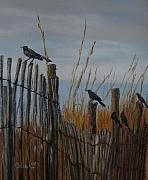 Crows Pastels - The Gathering by Cathy Weaver