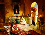 Orientalism Prints - The Gathering of the Roses Print by Rudolphe Ernst