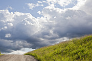 Country Dirt Roads Photos - The Gathering Storm by Alan L Graham